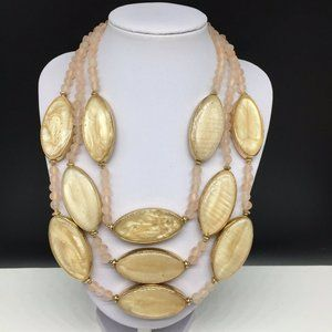 Chico's Enamel & Glass Beaded Statement Necklace